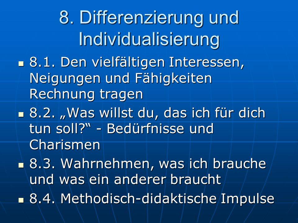 8.Differenzierung und Individualisierung 8.1.