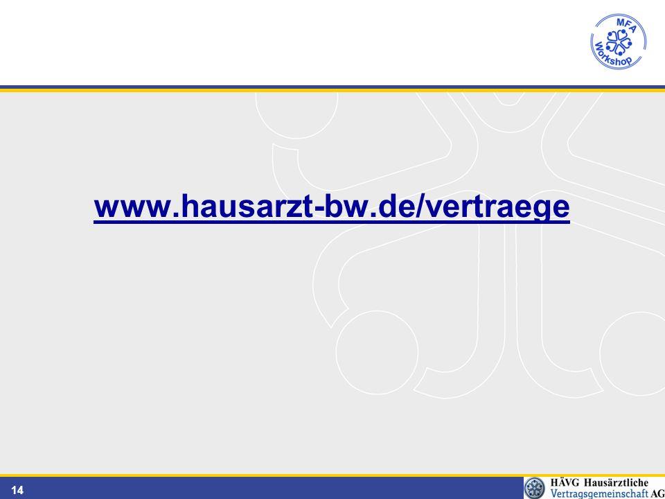 14 www.hausarzt-bw.de/vertraege