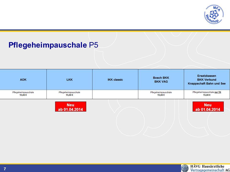 7 Pflegeheimpauschale P5 Neu ab 01.04.2014 Neu ab 01.04.2014