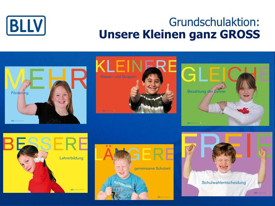Unsere Kleinen ganz GROSS Grundschule ganz stark - Eine Aktion des BLLV im SJ 08/09 - 1.Die Aktion: der Inhalt 2.Die Aktion: die Ziele 3.Die Aktion: Umsetzungsmöglichkeiten 40 Minuten
