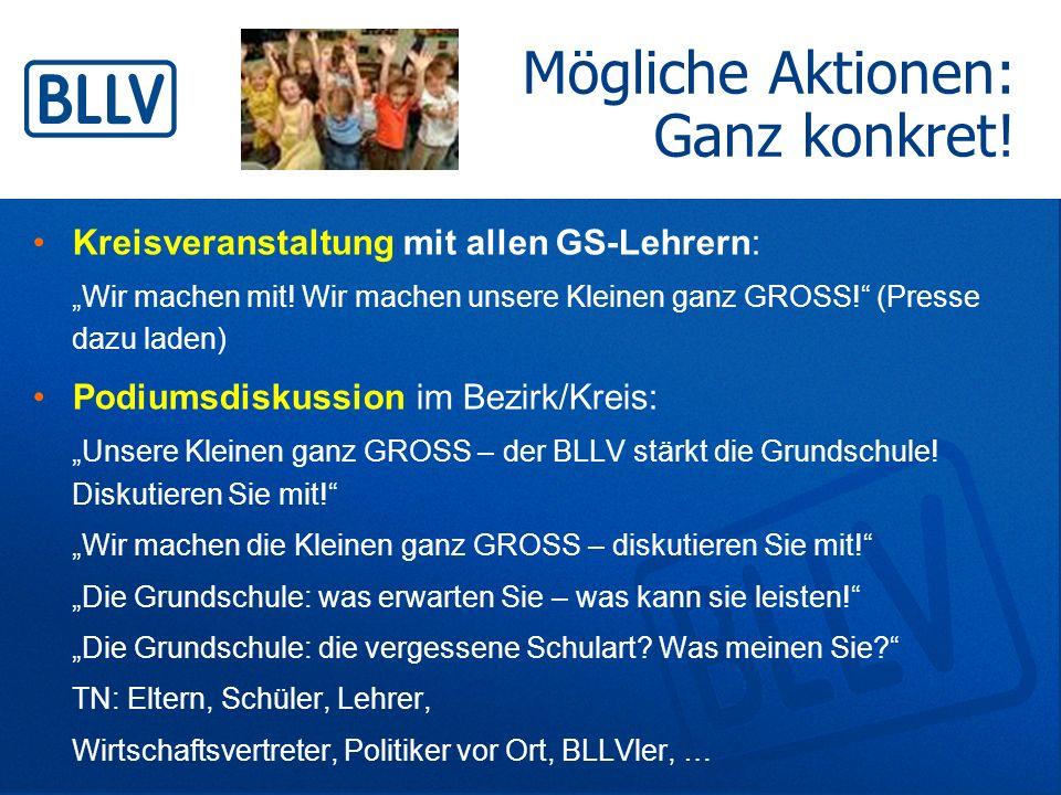 """Kreisveranstaltung mit allen GS-Lehrern: """"Wir machen mit! Wir machen unsere Kleinen ganz GROSS!"""" (Presse dazu laden) Podiumsdiskussion im Bezirk/Kreis"""