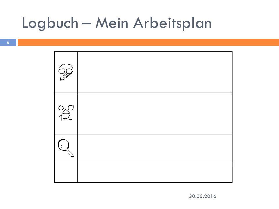 Logbuch – Mein Arbeitsplan 30.05.2016 6