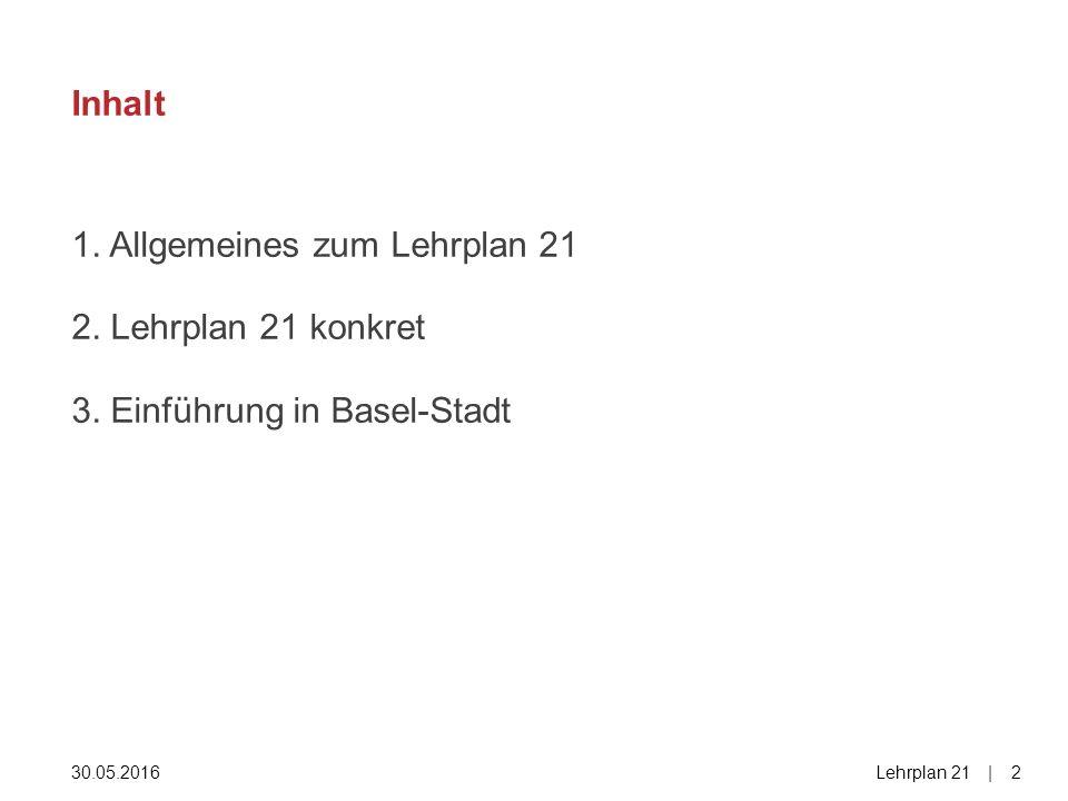 1. Allgemeines zum Lehrplan 21 2. Lehrplan 21 konkret 3.