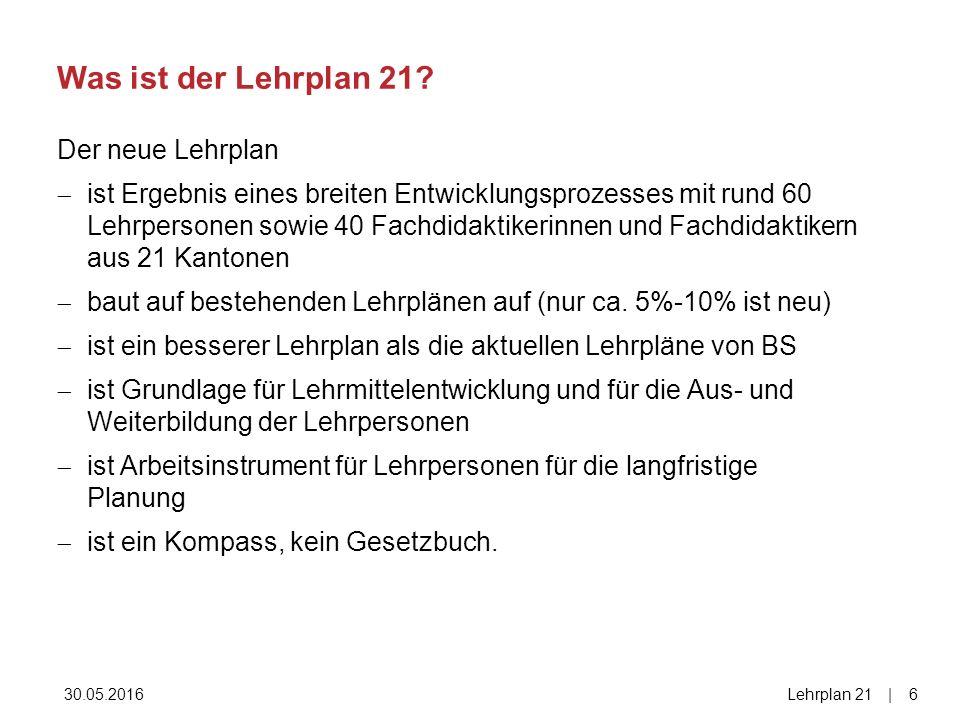 30.05.2016Lehrplan 21| 17 2000
