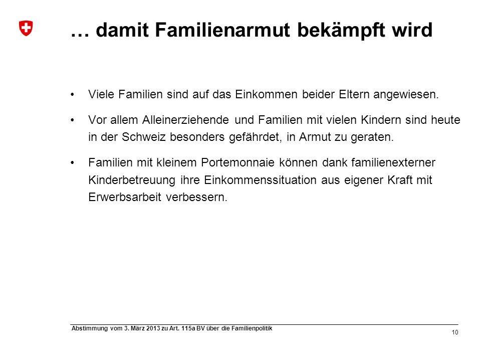 10 Abstimmung vom 3. März 2013 zu Art.