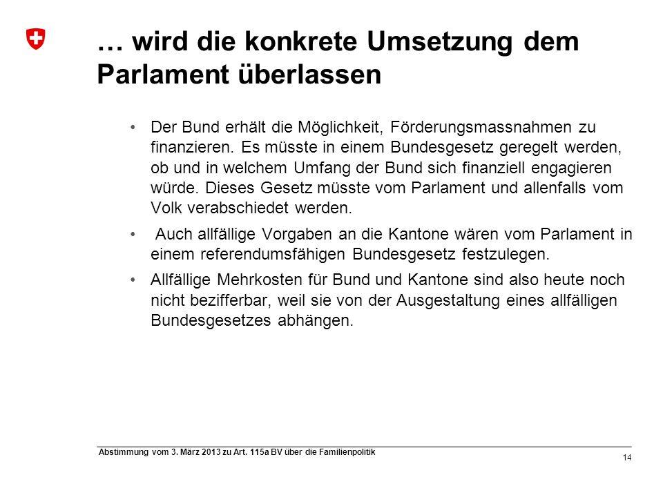 14 Abstimmung vom 3. März 2013 zu Art.