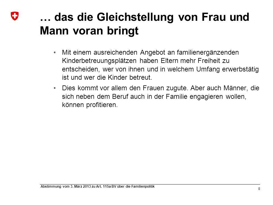 8 Abstimmung vom 3. März 2013 zu Art.