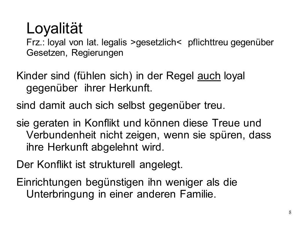 8 Loyalität Frz.: loyal von lat.
