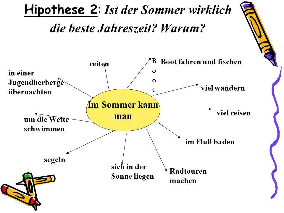 Hipothese 2: Ist der Sommer wirklich die beste Jahreszeit.