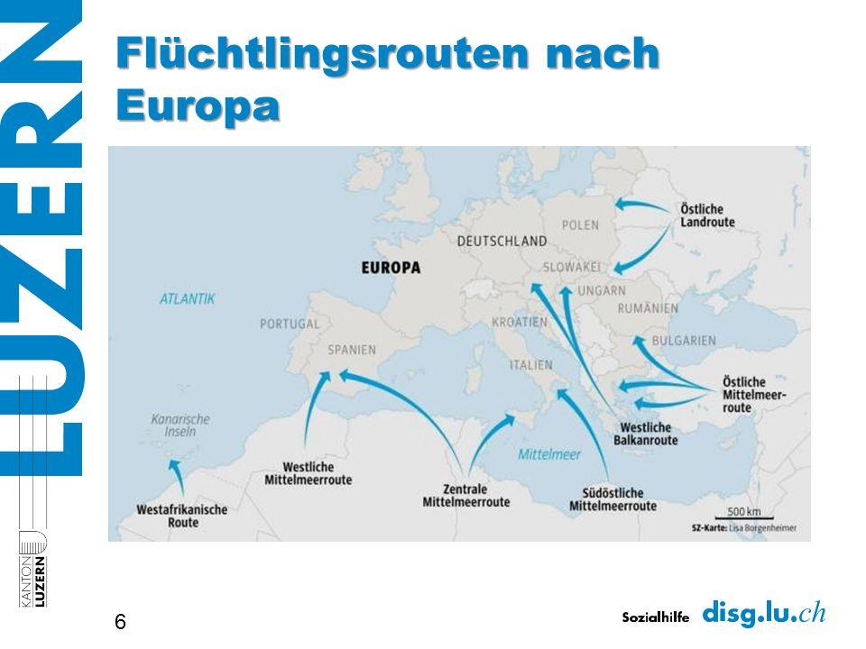 Flüchtlingsrouten nach Europa 6