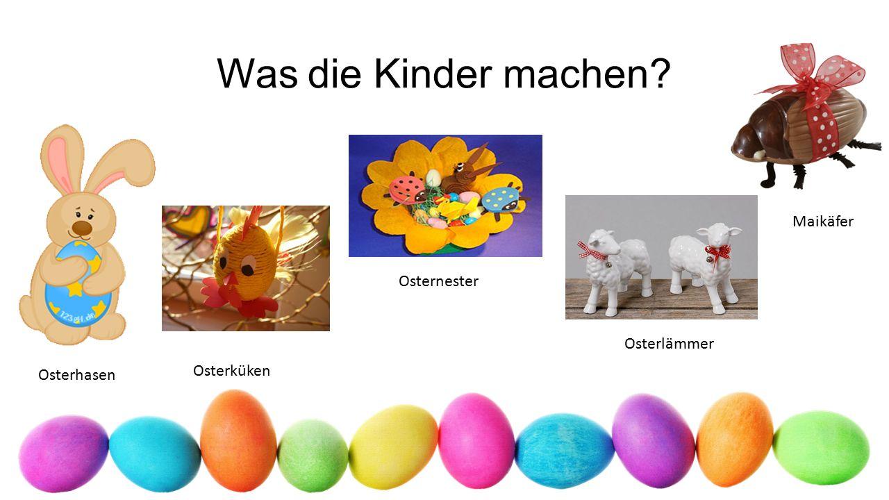 Die Karwoche Gründonnerstag - Eier bemalen Karfreitag - In den Messen und Gottesdiensten ertönen weder Orgelmusik noch Kirchenlieder.
