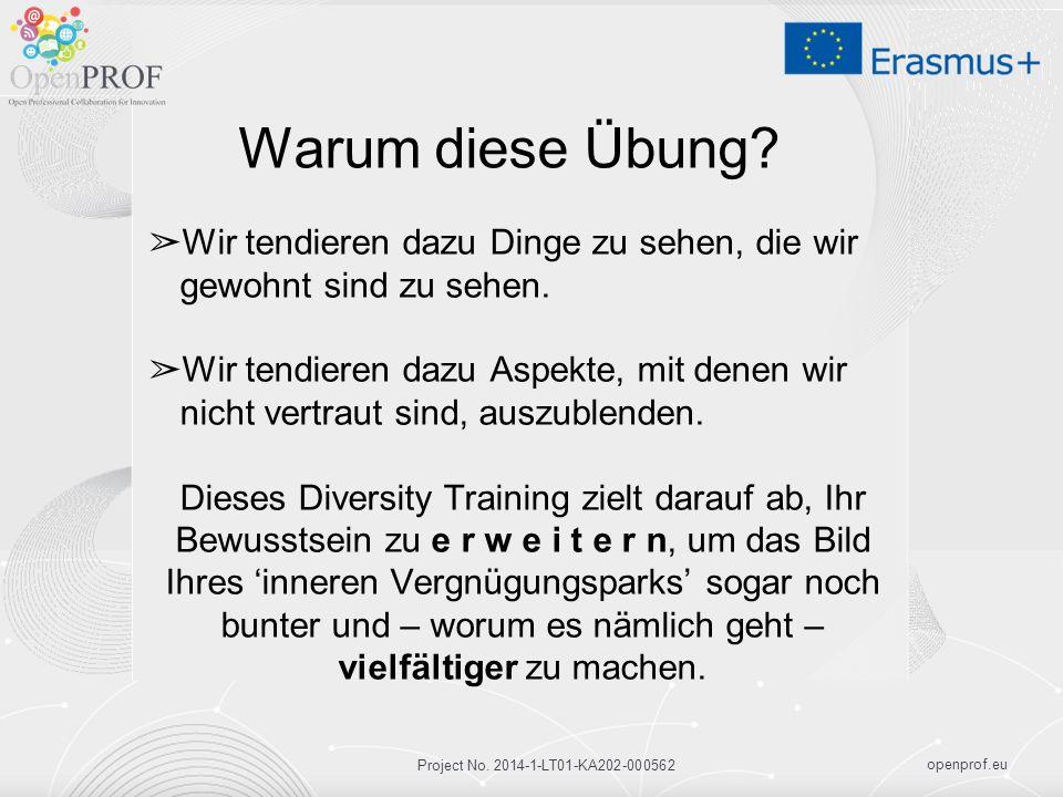 openprof.eu Project No. 2014-1-LT01-KA202-000562 Warum diese Übung.