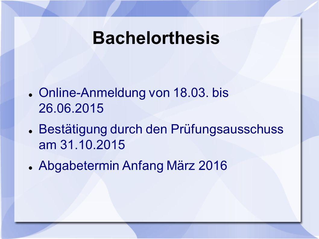 Bachelorthesis Online-Anmeldung von 18.03.