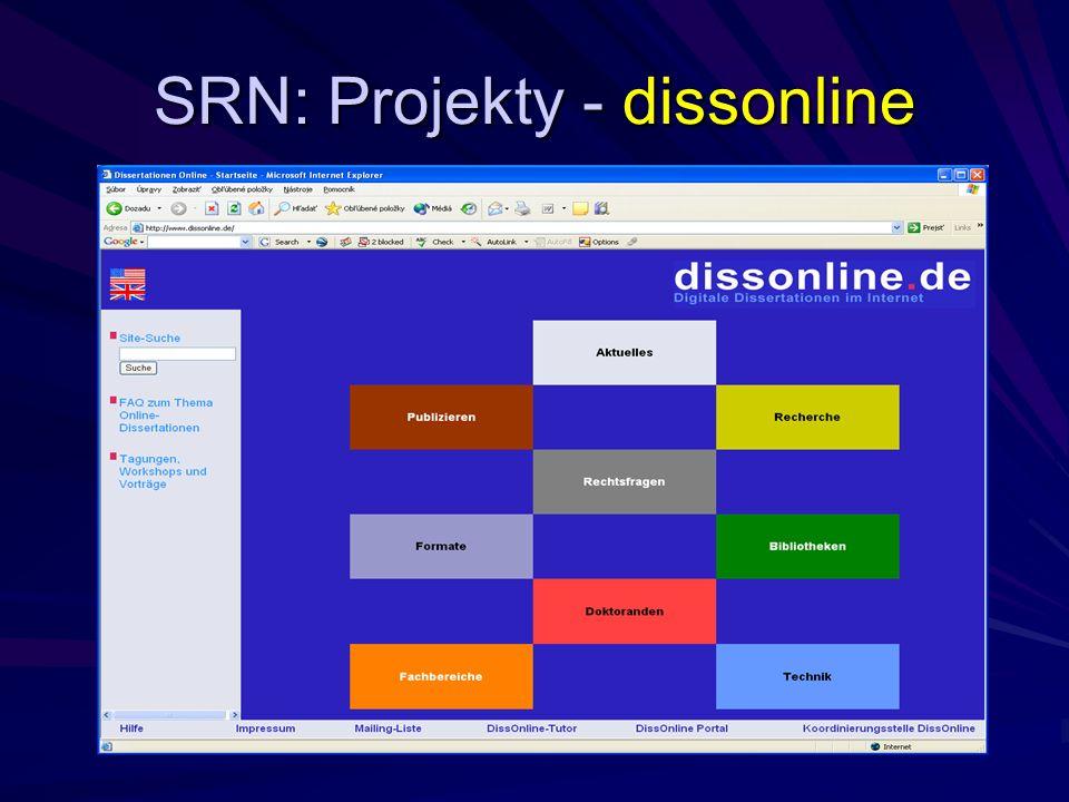 SRN: Projekty - dissonline
