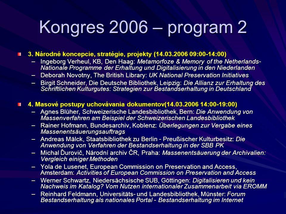 Kongres 2006 – program 2 3.