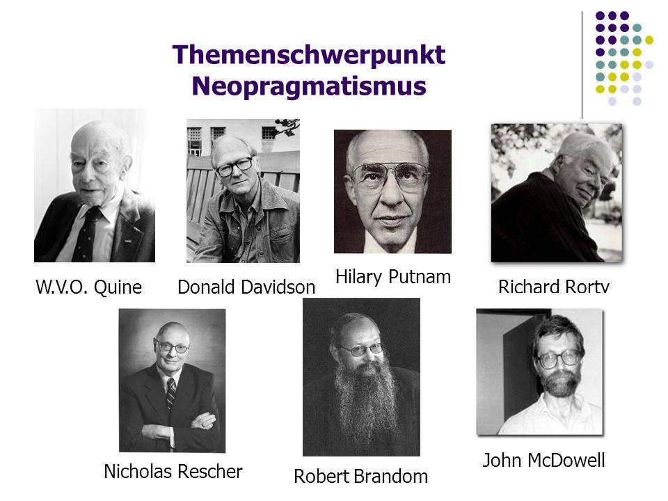 Themenschwerpunkt Neopragmatismus W.V.O.