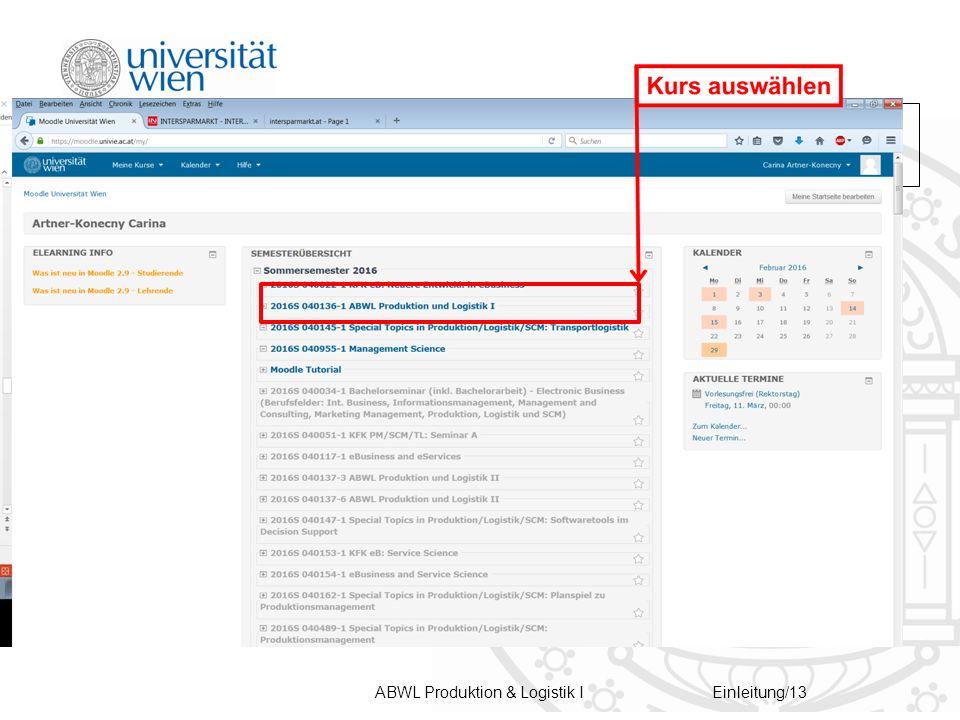 ABWL Produktion & Logistik IEinleitung/13