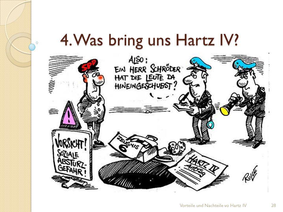 4. Was bring uns Hartz IV? Vorteile und Nachteile vo Hartz IV28