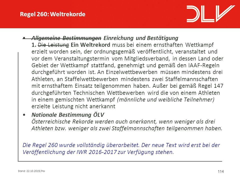 114 Allgemeine Bestimmungen Einreichung und Bestätigung 1.