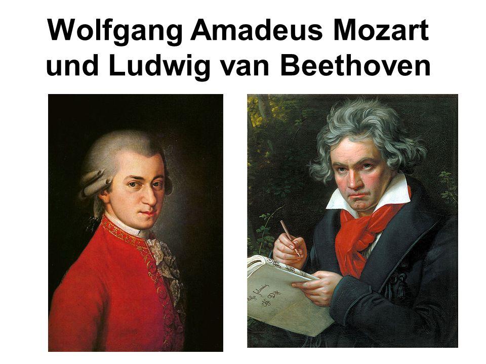 Wolfgang Amadeus Mozart und Ludwig van Beethoven