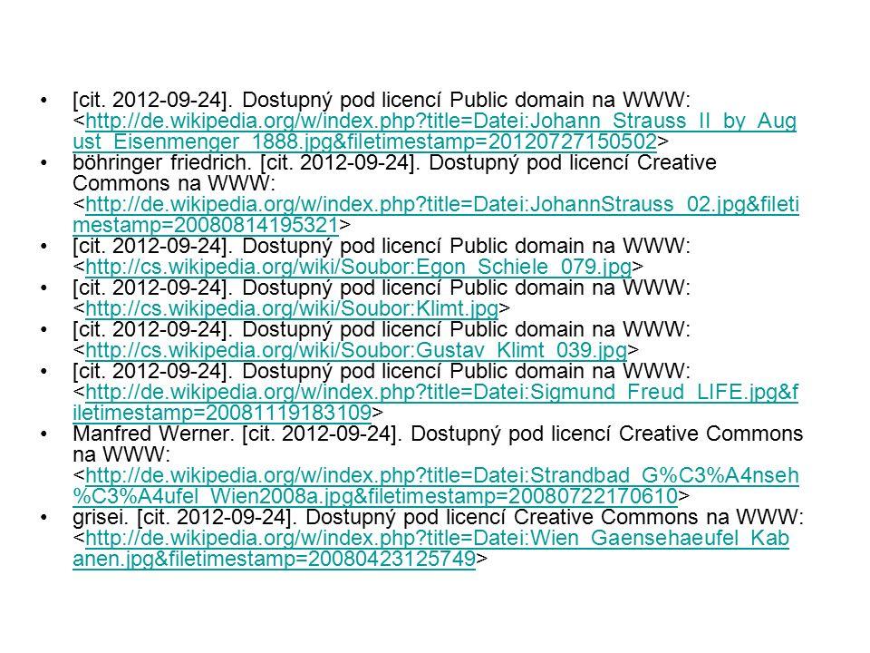 [cit. 2012-09-24]. Dostupný pod licencí Public domain na WWW: http://de.wikipedia.org/w/index.php?title=Datei:Johann_Strauss_II_by_Aug ust_Eisenmenger