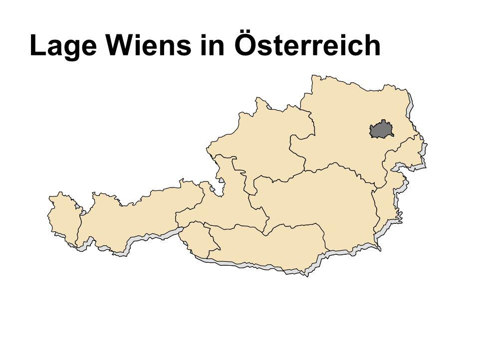Lage Wiens in Österreich