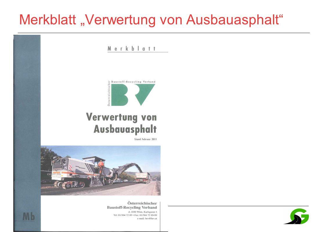 """41 Merkblatt """"Verwertung von Ausbauasphalt"""