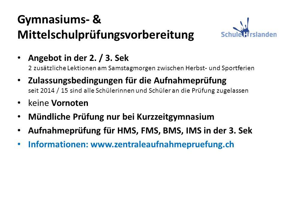 Gymnasiums- & Mittelschulprüfungsvorbereitung Angebot in der 2.