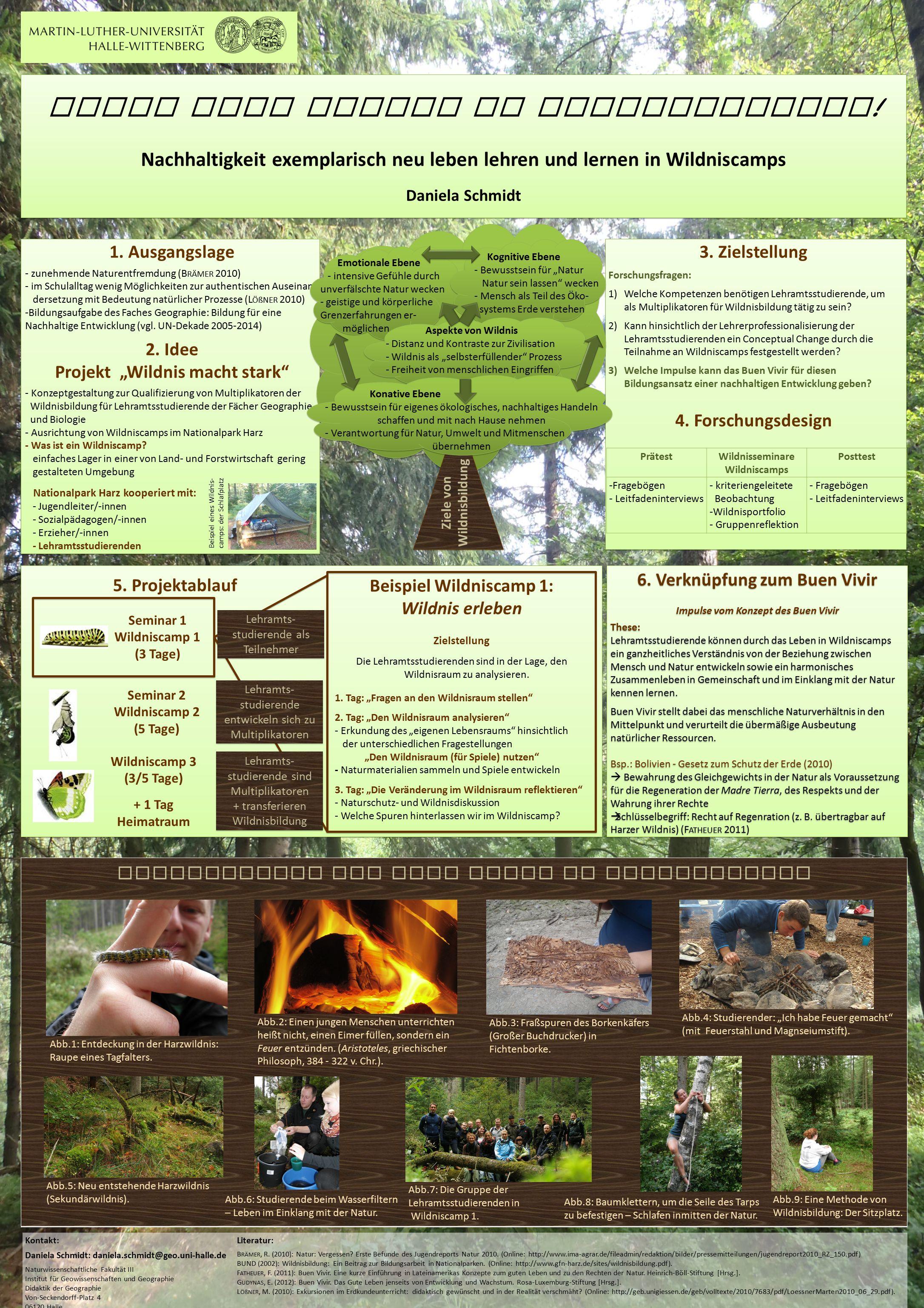 Leben ohne Spuren zu hinterlassen? ! Nachhaltigkeit exemplarisch neu leben lehren und lernen in Wildniscamps Daniela Schmidt Leben ohne Spuren zu hint