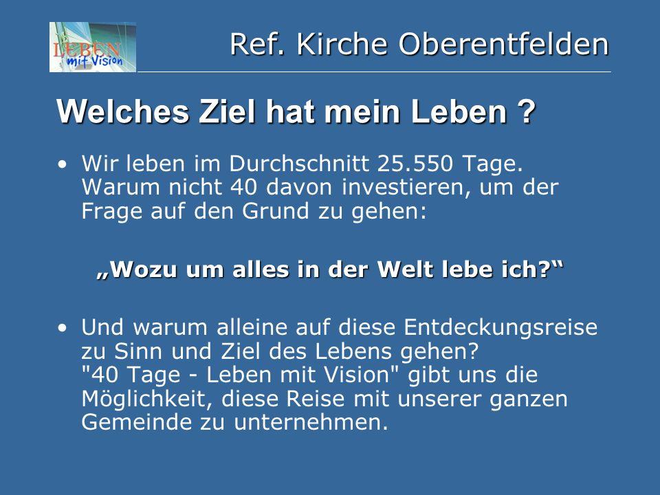 Ref. Kirche Oberentfelden Welches Ziel hat mein Leben .