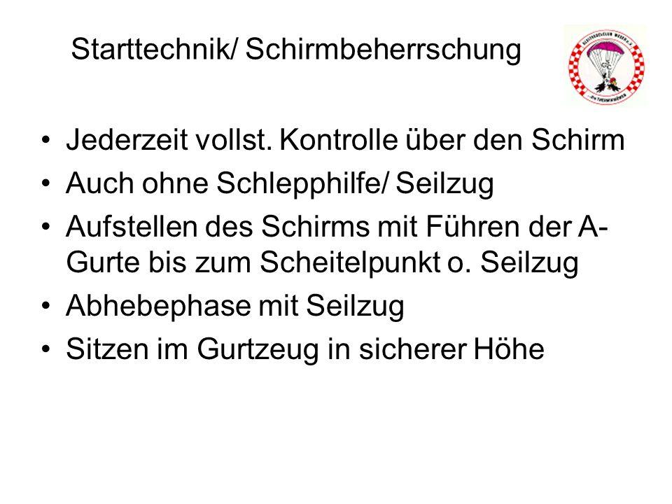 Starttechnik/ Schirmbeherrschung Jederzeit vollst.