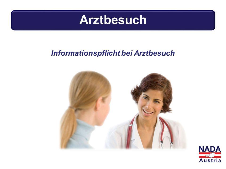 Arztbesuch Informationspflicht bei Arztbesuch