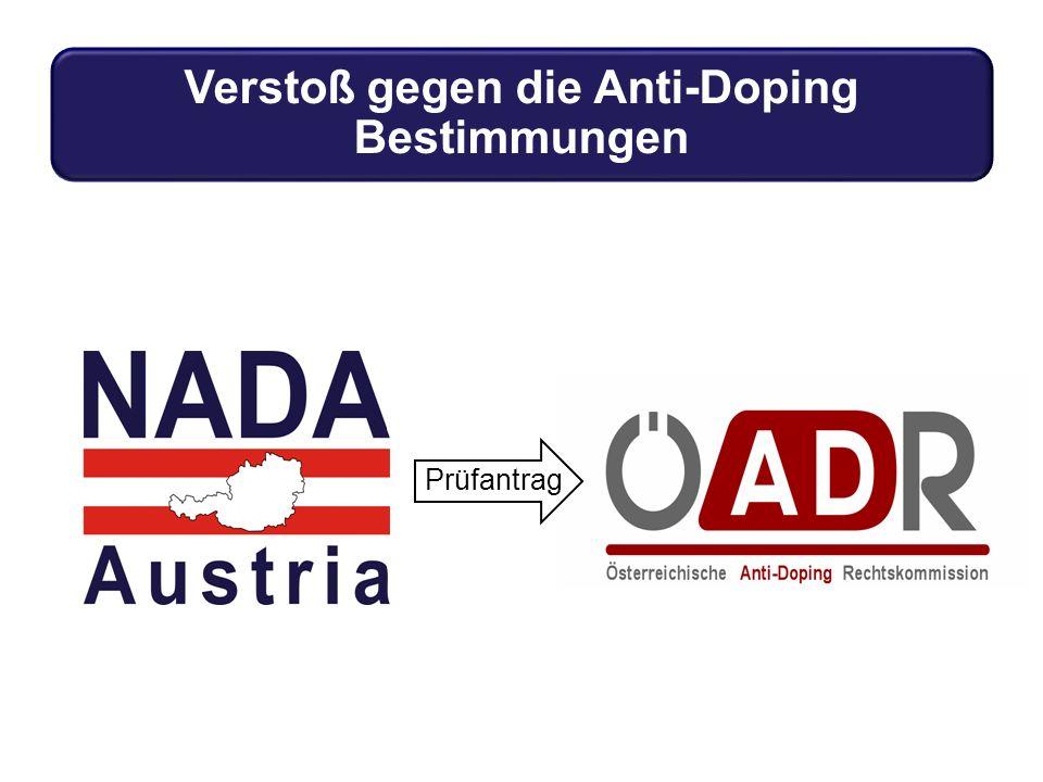 Verstoß gegen die Anti-Doping Bestimmungen Prüfantrag