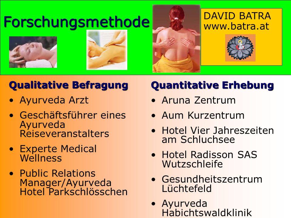 Qualitative Befragung Ayurveda Arzt Geschäftsführer eines Ayurveda Reiseveranstalters Experte Medical Wellness Public Relations Manager/Ayurveda Hotel