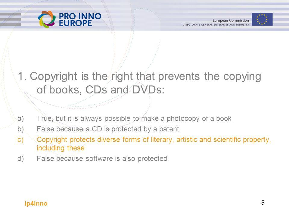 ip4inno 36 General IP Information Sources IPR-Helpdesk www.ipr-helpdesk.org The IP Law Server http://www.intelproplaw.com/News IP Menu http://www.ipmenu.com/