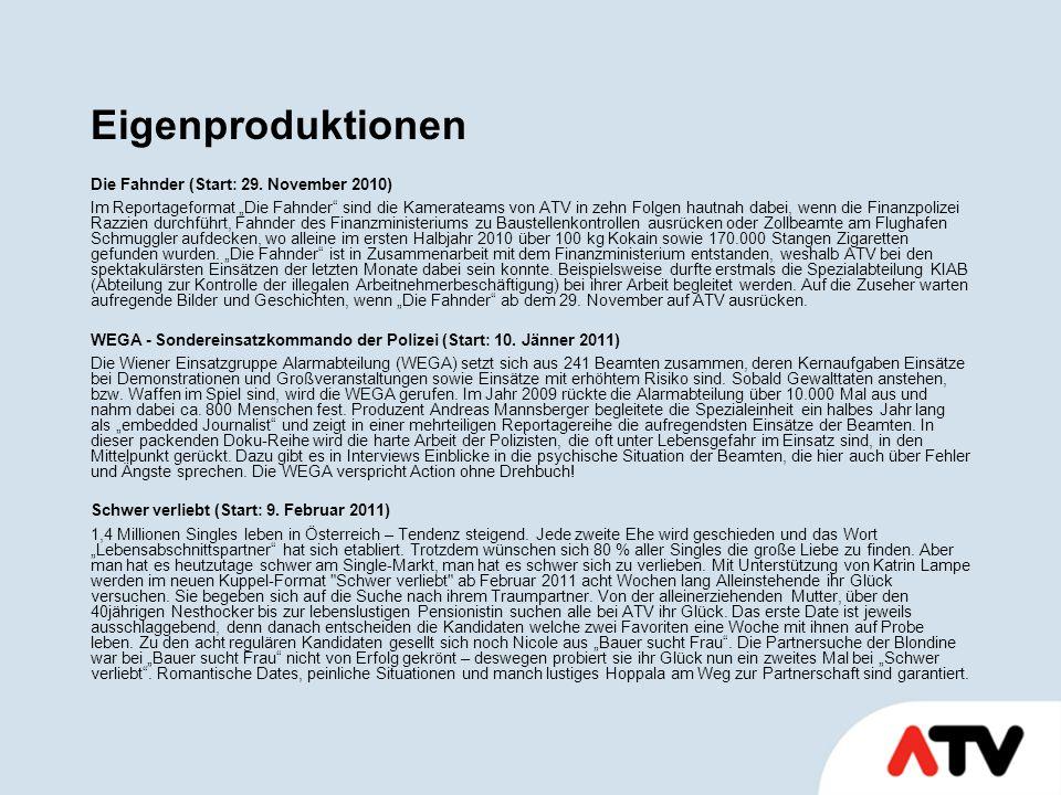 Eigenproduktionen Die Fahnder (Start: 29.