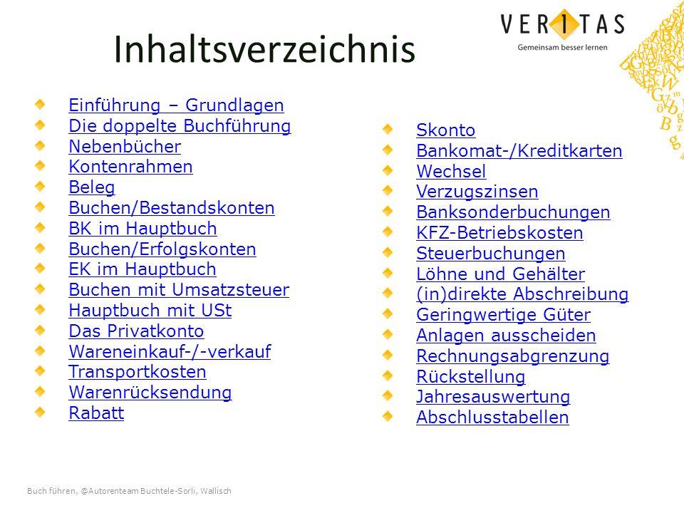 Buch führen, @Autorenteam Buchtele-Sorli, Wallisch Die doppelte Buchführung Fertige Gewinn- und Verlustrechnung (GuV) für das Jahr 20..