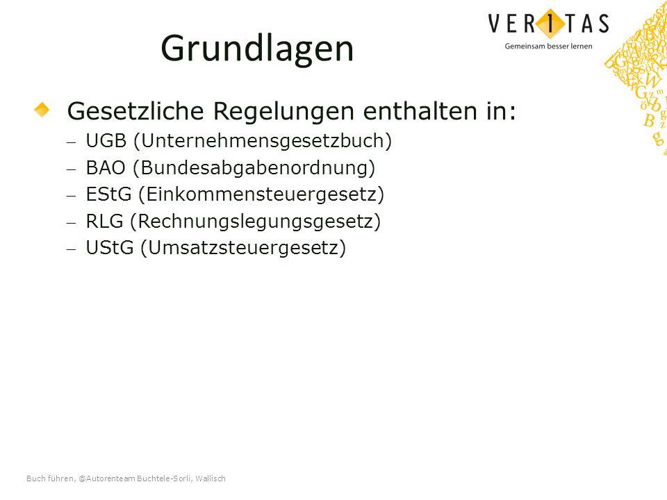 Buch führen, @Autorenteam Buchtele-Sorli, Wallisch Die doppelte Buchführung Fertige Bilanz per 31.