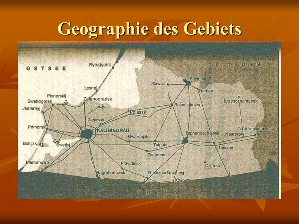 Geographie des Gebiets