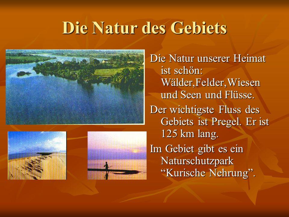 Die Natur des Gebiets Die Natur unserer Heimat ist schön: Wälder,Felder,Wiesen und Seen und Flüsse.