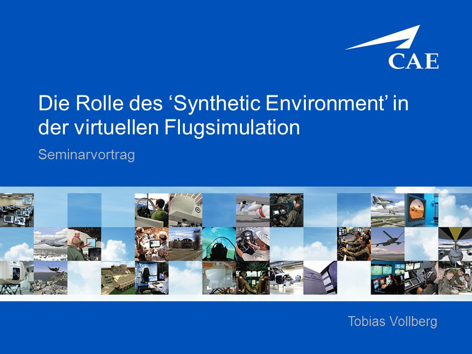 Die Rolle des 'Synthetic Environment' in der virtuellen Flugsimulation Seminarvortrag Tobias Vollberg