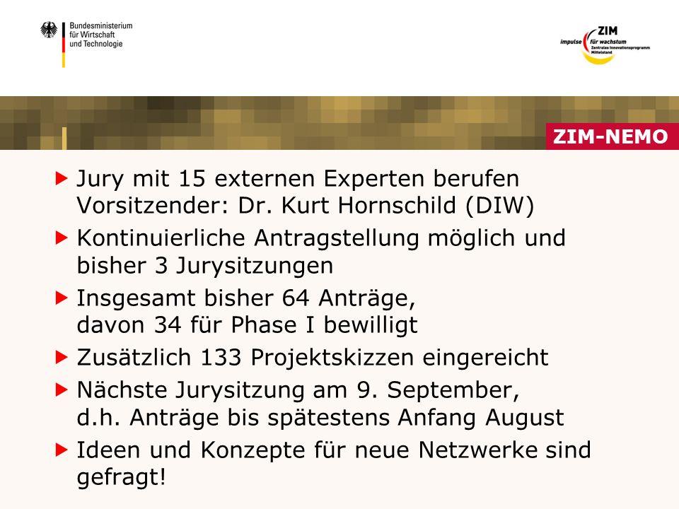 ZIM-NEMO  Jury mit 15 externen Experten berufen Vorsitzender: Dr.