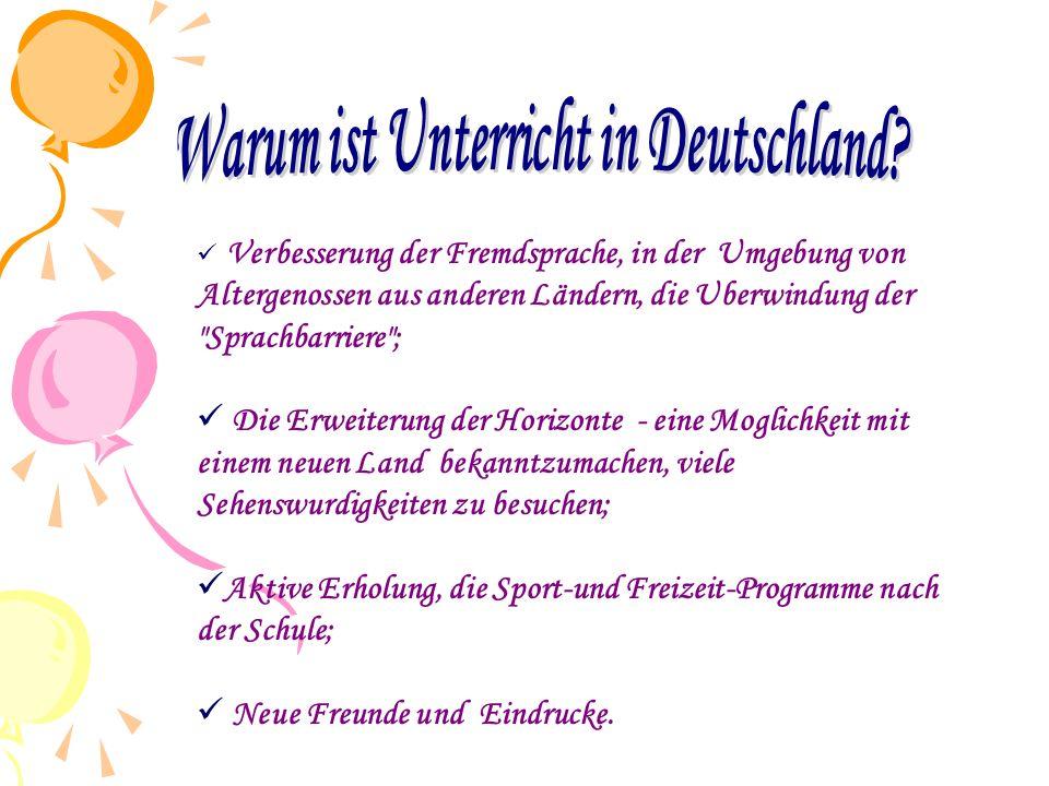  Lindenberg – ist eine ideale Stelle für Schuler und Studenten, die Deutsch lernen wollen, um mit Altergenossen aus der ganzen Welt zu treffen und Spaß zu haben.