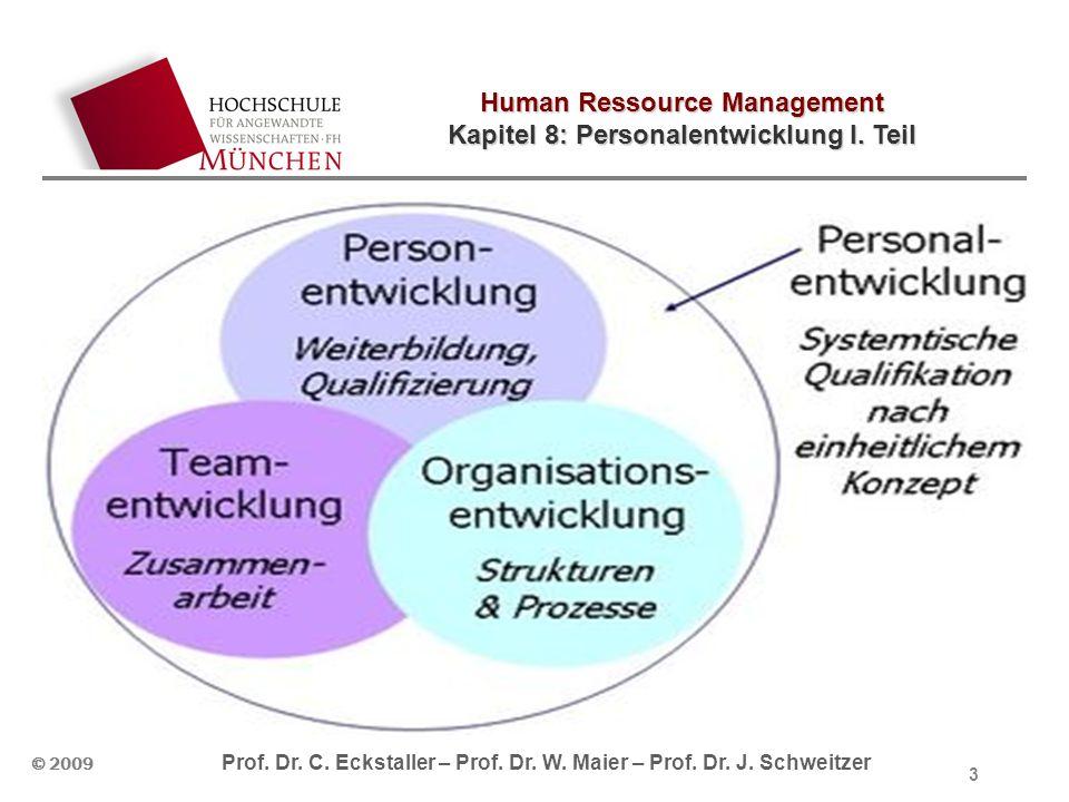 Human Ressource Management Kapitel 8: Personalentwicklung I. Teil © 2009 Prof. Dr. C. Eckstaller – Prof. Dr. W. Maier – Prof. Dr. J. Schweitzer 3