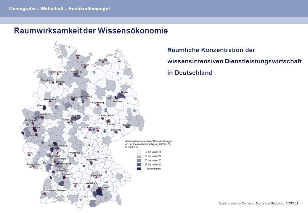 Quelle: Universität Dortmund. Darstellung: RegioNord, NORD/LB.
