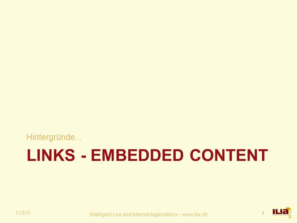 LINKS - EMBEDDED CONTENT Hintergründe...