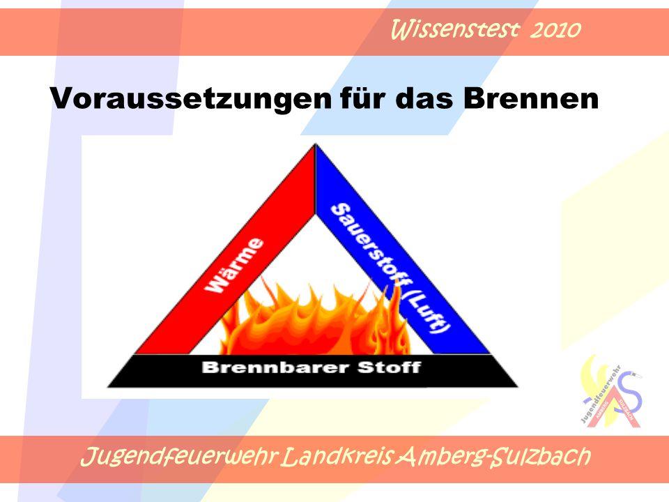 Jugendfeuerwehr Landkreis Amberg-Sulzbach Wissenstest 2010 Voraussetzungen für das Brennen