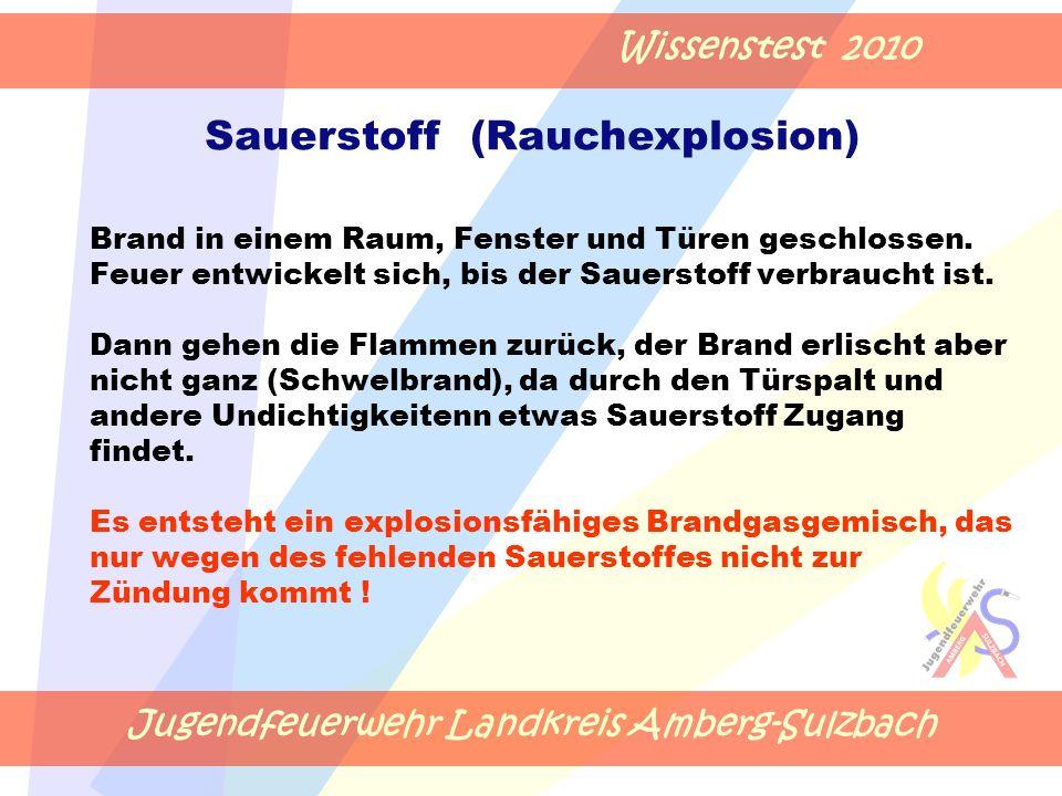 Jugendfeuerwehr Landkreis Amberg-Sulzbach Wissenstest 2010 Brand in einem Raum, Fenster und Türen geschlossen.