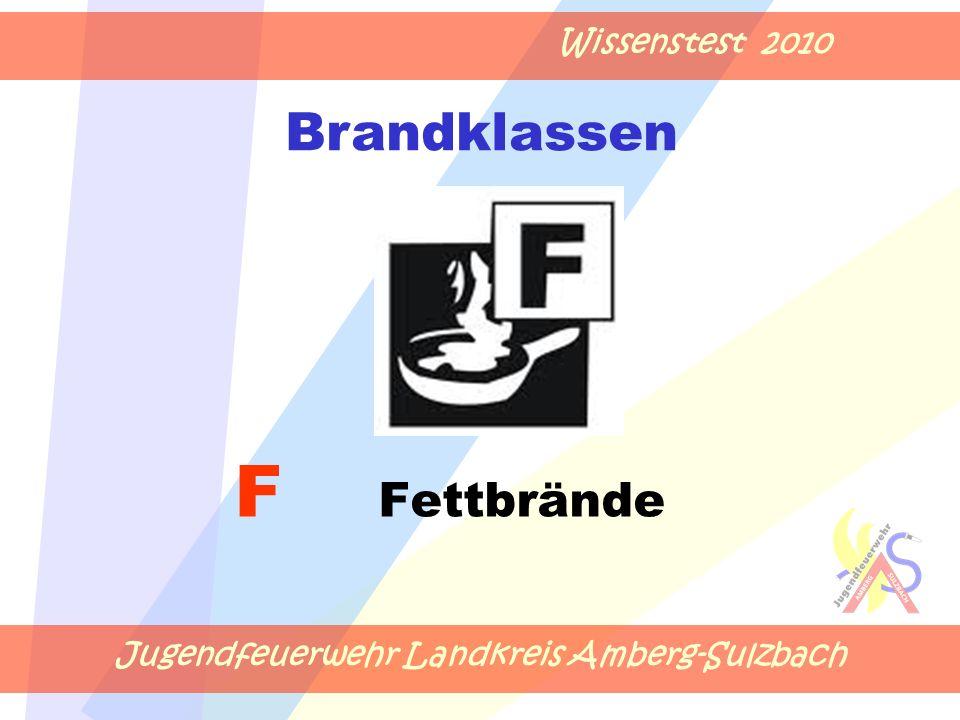 Jugendfeuerwehr Landkreis Amberg-Sulzbach Wissenstest 2010 F Fettbrände Brandklassen