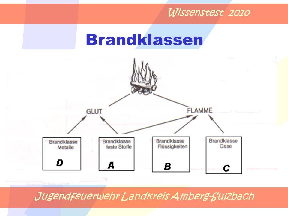 Jugendfeuerwehr Landkreis Amberg-Sulzbach Wissenstest 2010 Brandklassen
